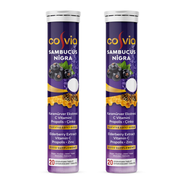 Cosvia Sambucus Nigra 20 Efervesan Tablet (2 Adet)
